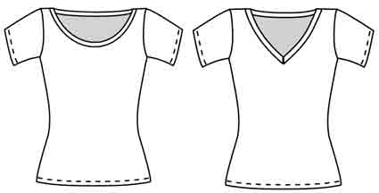 basic tee from meg mcelwee of sew liberated patterns