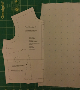 Pattern Making For Front Openings 2 Combined Facing To Front Edge